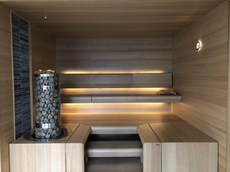 TAIVE-sauna valmiina edustamaan suomalaista saunakulttuuria.