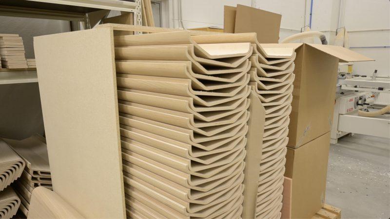 TAIVE-saunamallisto koostuu modulaarisista osista, joten ne voidaan pakata tiiviisti kuljetusta varten.