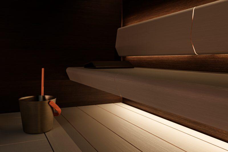 Saunan sisustukselliset yksityiskohdat kuten verhoilu ja valaistus ovat olennaisia osia suomalaisten saunakokemuksessa.